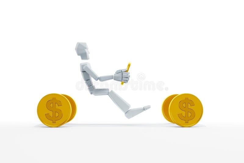 Concepto del préstamo de coche ilustración del vector