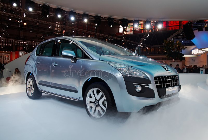 Concepto del prólogo de Peugeot fotos de archivo