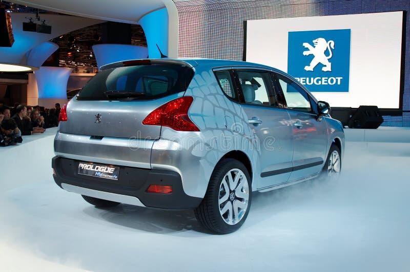 Concepto del prólogo de Peugeot foto de archivo libre de regalías