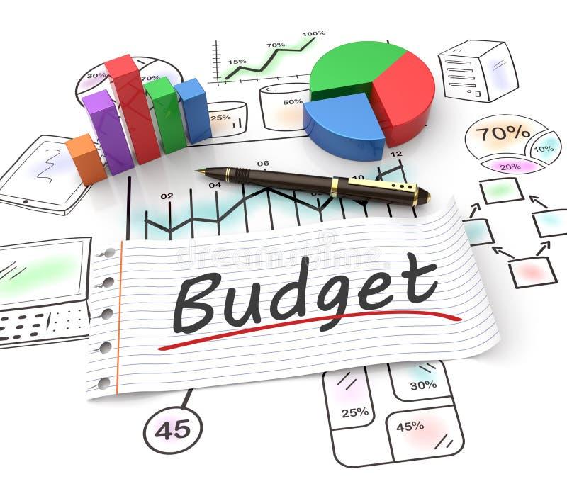 Concepto del presupuesto ilustración del vector