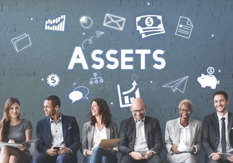 Concepto del presupuesto en capitales de las mercancías de las tenencias de propiedad de los activos imagen de archivo libre de regalías