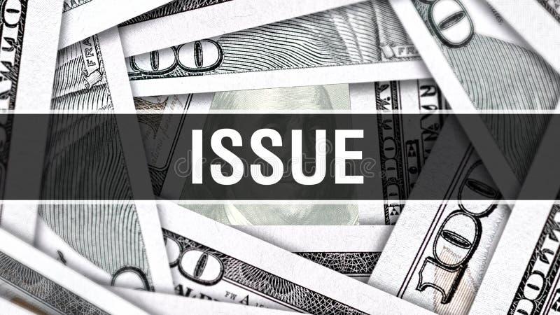 Concepto del primer del problema Dólares americanos de dinero del efectivo, representación 3D Problema en el billete de banco del libre illustration