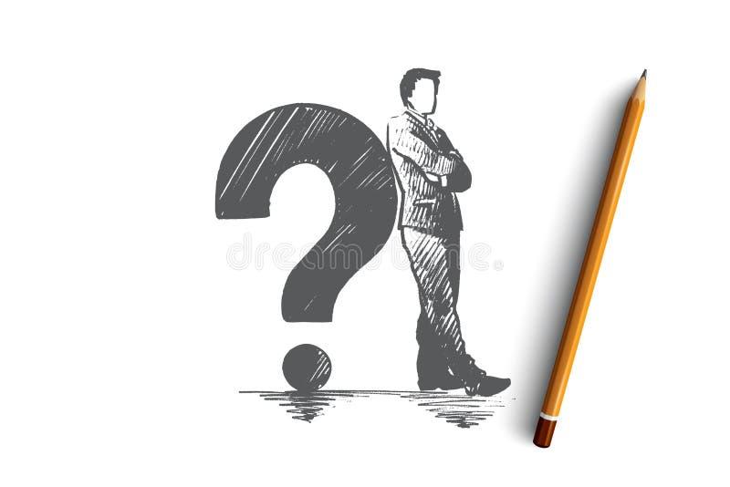 Concepto del problema Vector aislado dibujado mano stock de ilustración