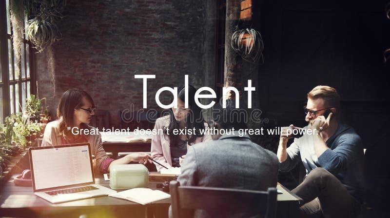 Concepto del profesional de la experiencia de las capacidades de las habilidades del talento fotos de archivo