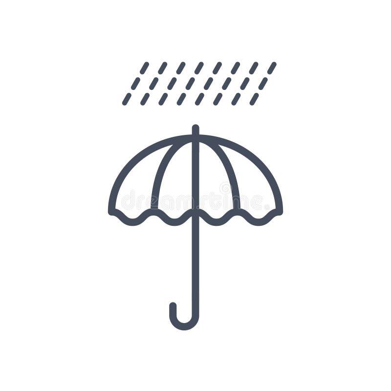 Concepto del pronóstico del clima del icono del tiempo de la lluvia stock de ilustración