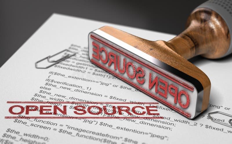 Concepto del proyecto de Open Source fotos de archivo libres de regalías