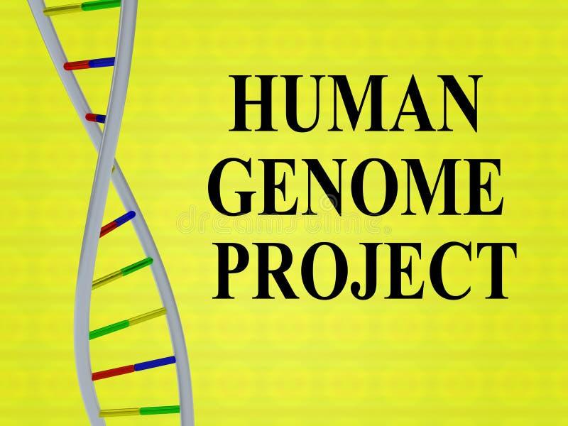 Concepto del PROYECTO DEL GENOMA HUMANO fotos de archivo libres de regalías