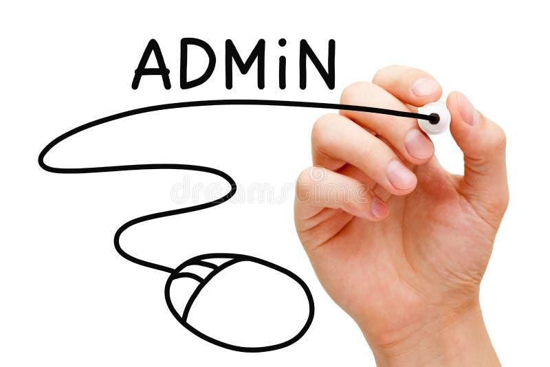 Concepto del ratón del ordenador del Admin fotografía de archivo libre de regalías
