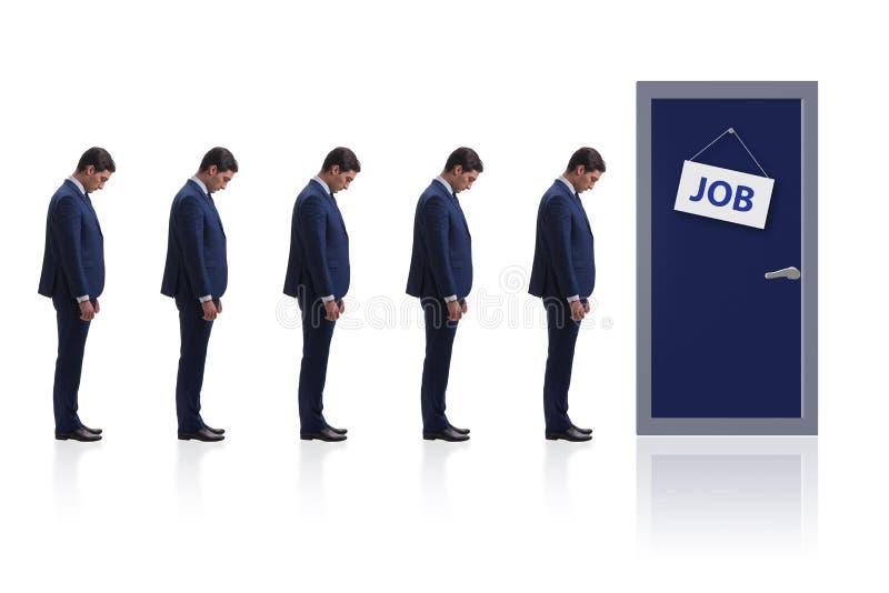 Concepto del reclutamiento con los hombres de negocios fotografía de archivo
