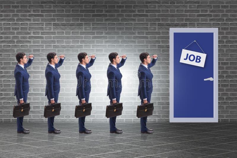 Concepto del reclutamiento con los hombres de negocios imagen de archivo