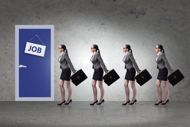 Concepto del reclutamiento con los hombres de negocios foto de archivo