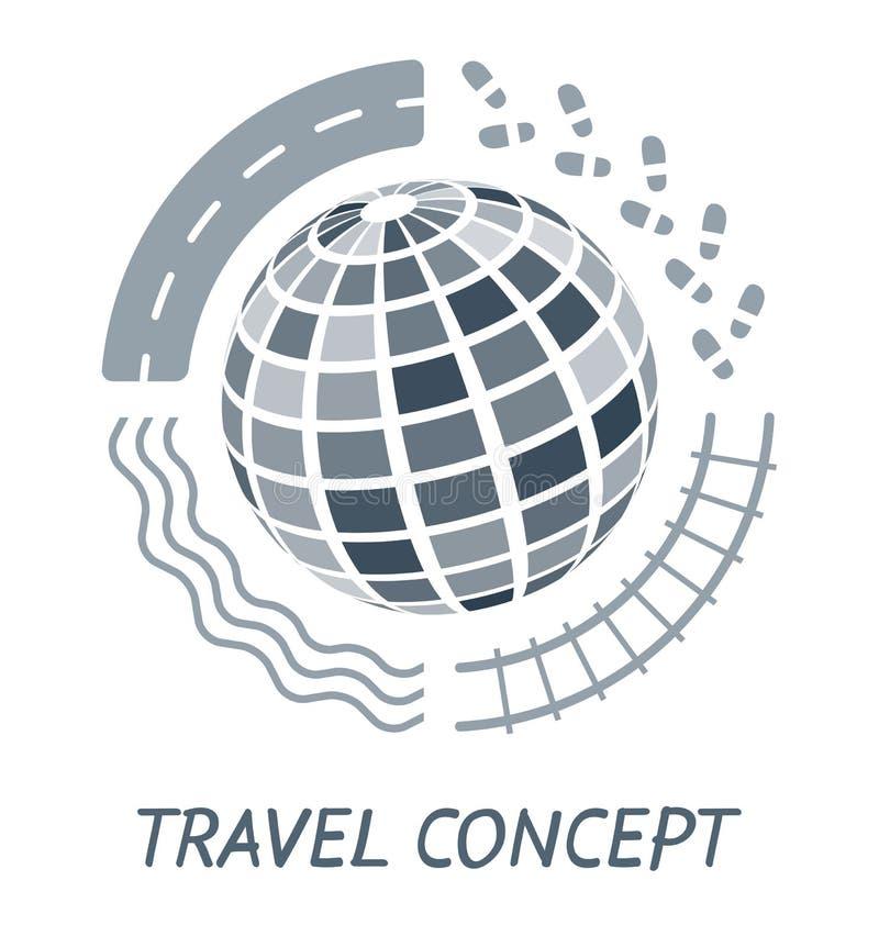 Concepto del recorrido ilustración del vector