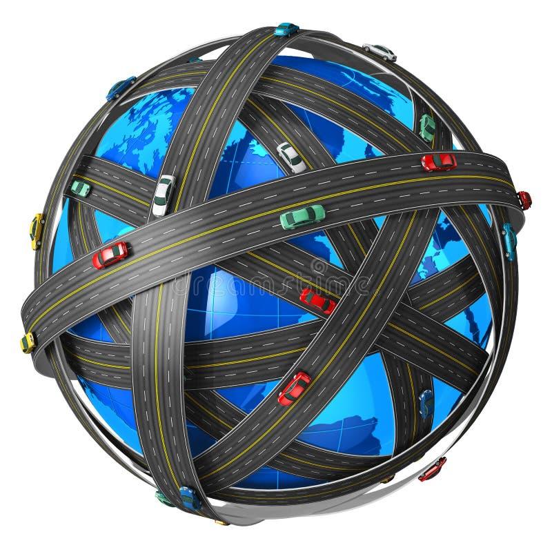 Concepto del recorrido y del transporte stock de ilustración