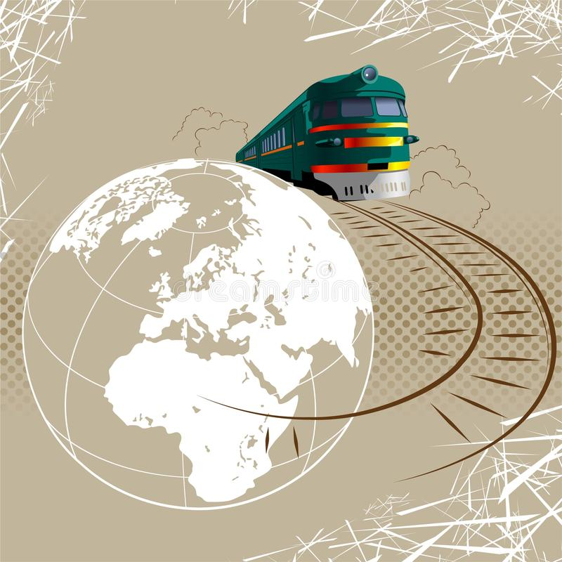 Concepto del recorrido y del turismo stock de ilustración