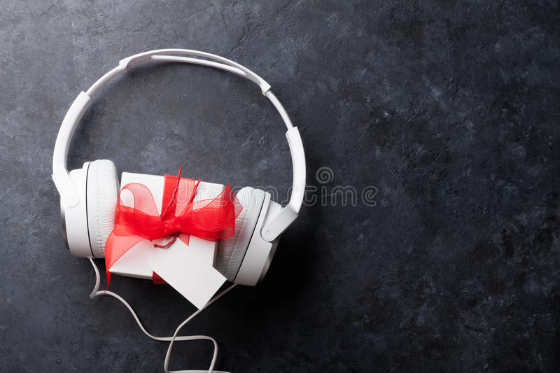 Concepto del regalo de la música fotos de archivo