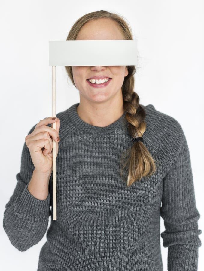 Concepto del retrato del ojo de la cubierta de la mujer imagen de archivo libre de regalías