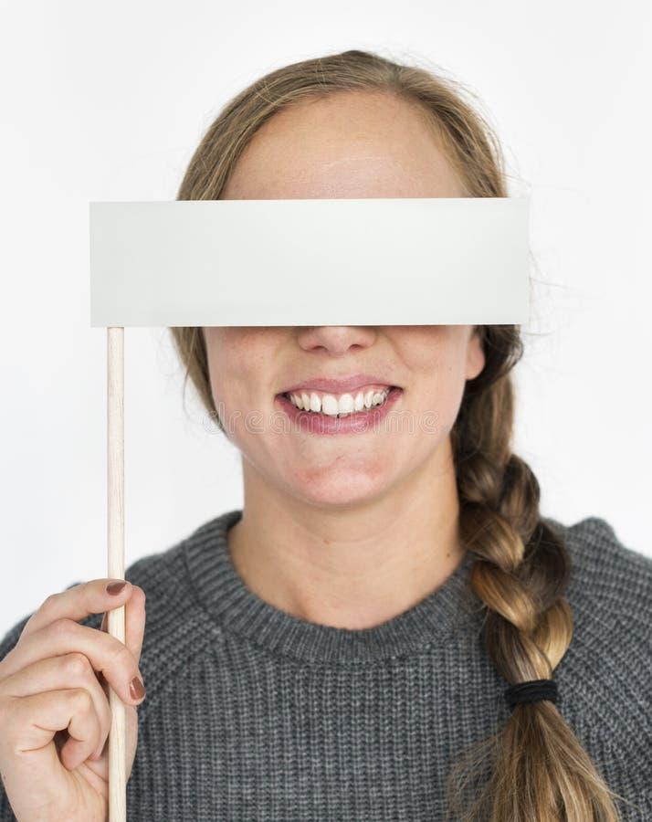 Concepto del retrato del ojo de la cubierta de la mujer fotografía de archivo libre de regalías