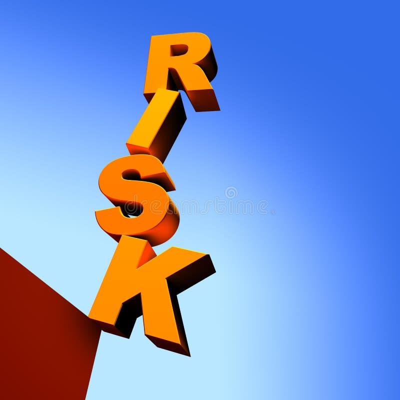 Concepto del riesgo (3D) stock de ilustración