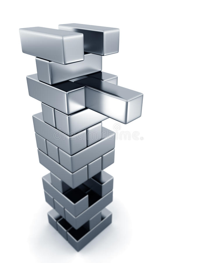 Concepto del riesgo que quita el bloque de torre libre illustration