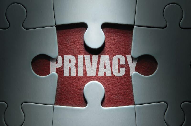 Concepto del rompecabezas de la privacidad fotografía de archivo libre de regalías