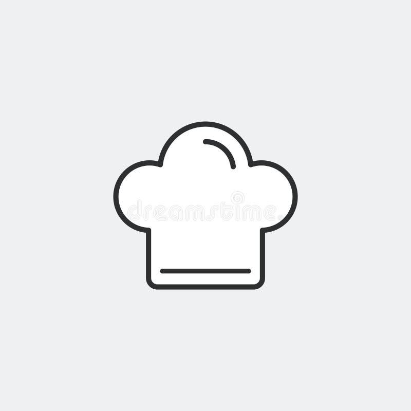 Concepto del símbolo del sombrero del cocinero ilustración del vector