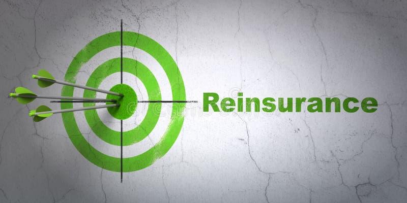 Concepto del seguro: blanco y reaseguro en fondo de la pared ilustración del vector