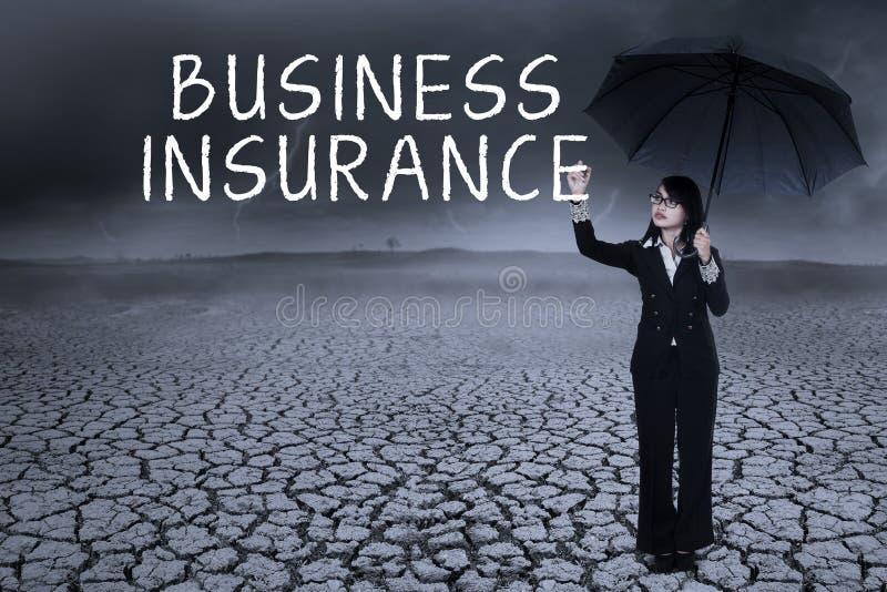 Concepto del seguro de negocio fotos de archivo libres de regalías