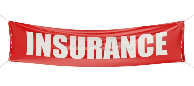 Concepto del seguro en la bandera ilustración del vector