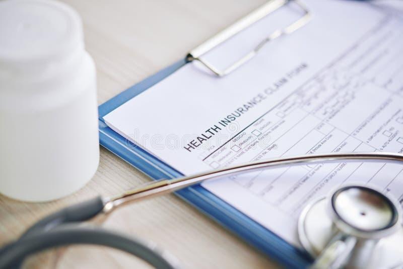 Concepto del seguro médico fotografía de archivo libre de regalías