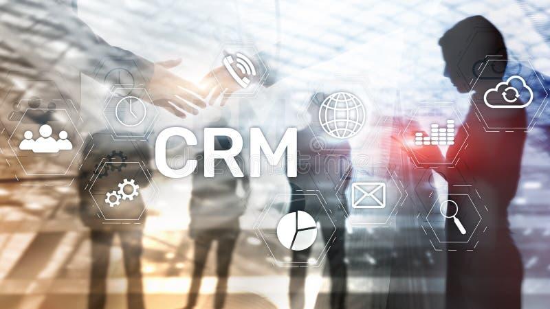 Concepto del servicio del análisis de la gestión de CRM del cliente empresa Gestión de la relación fotos de archivo