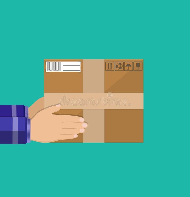 Concepto del servicio de entrega stock de ilustración