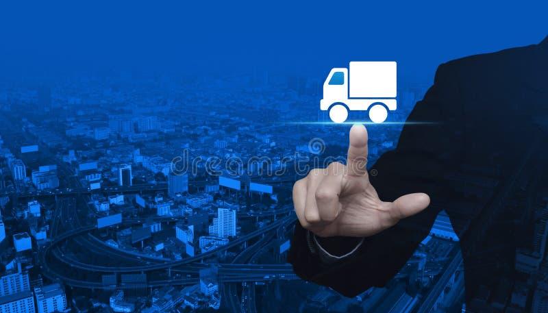 Concepto del servicio de entrega del camión imagen de archivo