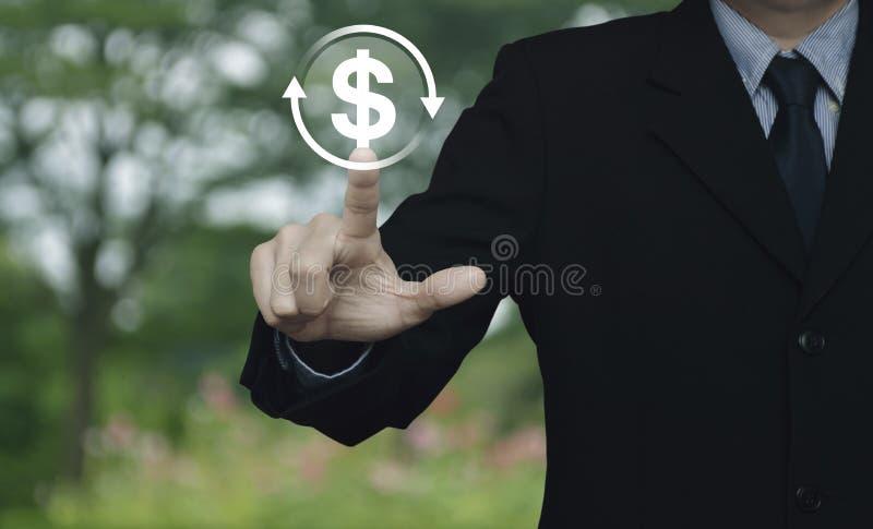 Concepto del servicio de intercambio de moneda del negocio fotos de archivo libres de regalías