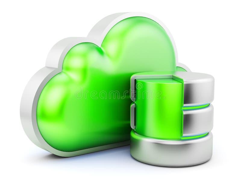 Concepto del servicio de la nube stock de ilustración