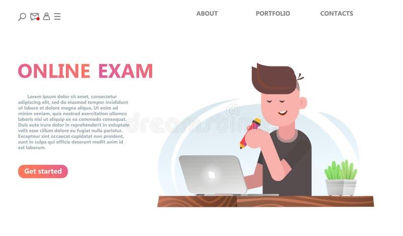Concepto del servicio de la prueba en línea o del examen libre illustration