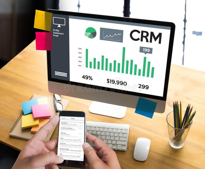 Concepto del servicio del análisis de la gestión de CRM del cliente empresa, Cust foto de archivo libre de regalías