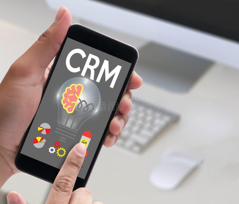 Concepto del servicio del análisis de la gestión de CRM del cliente empresa de CRM, stock de ilustración