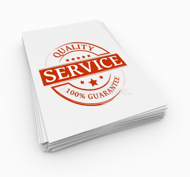 Concepto del servicio del sello ilustración del vector