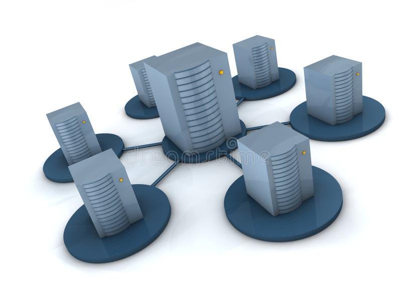 Concepto del servidor stock de ilustración