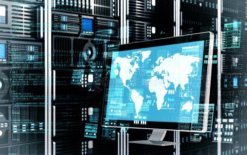 Concepto del servidor de Internet imágenes de archivo libres de regalías