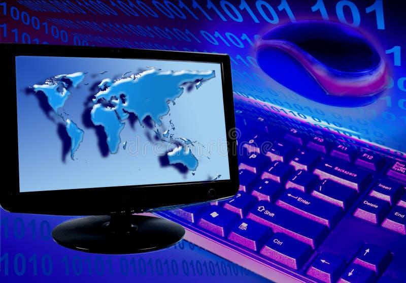 Concepto del sistema informático ilustración del vector