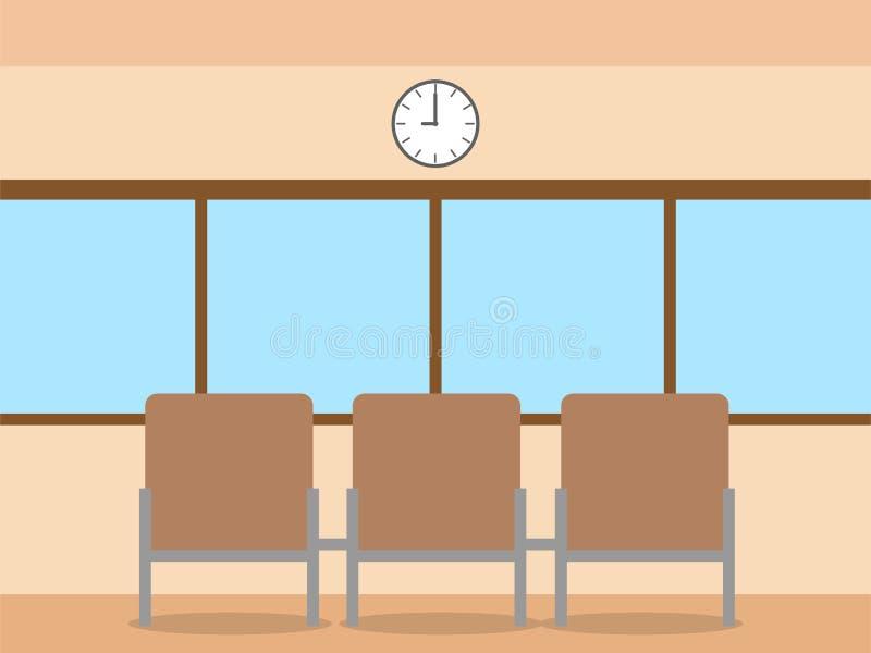 Concepto del sitio de la oficina, vector plano de los objetos del icono del diseño ilustración del vector