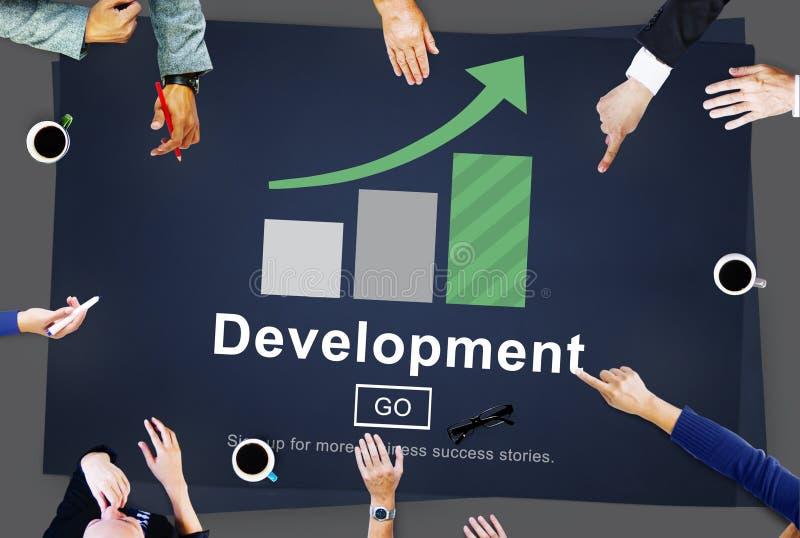 Concepto del sitio web de la solución del negocio de la gestión del desarrollo imagen de archivo libre de regalías