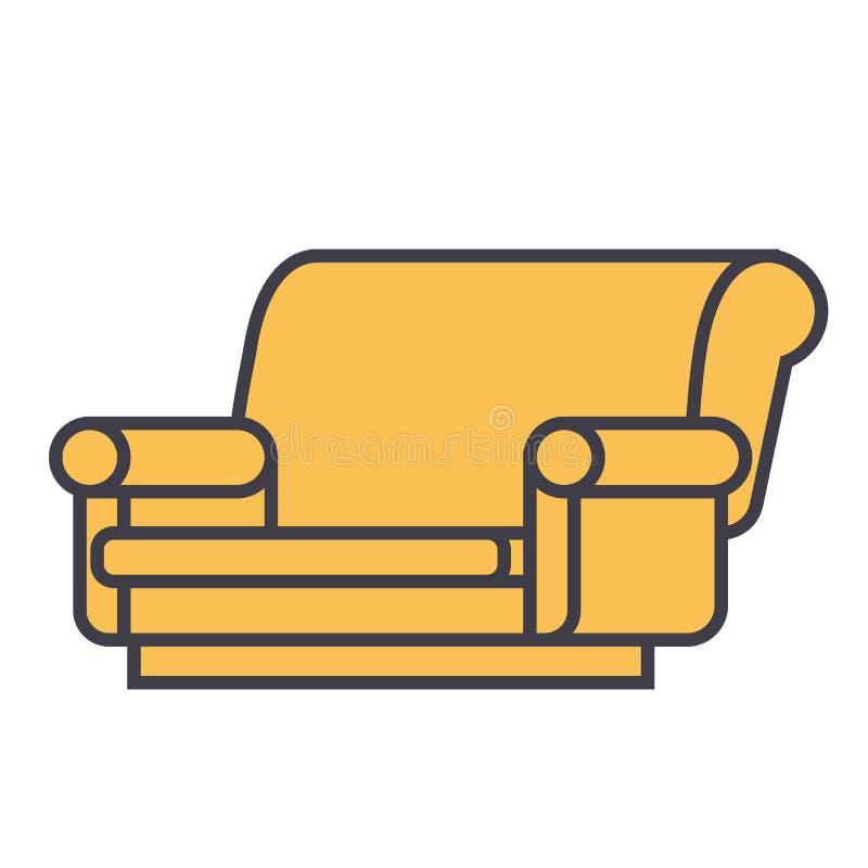 Concepto del sofá ilustración del vector