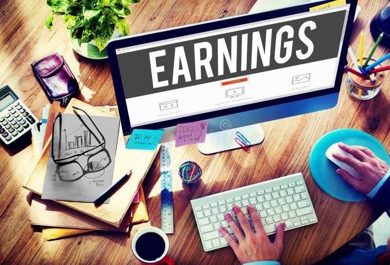 Concepto del sueldo del dinero de la renta de las finanzas de la economía de la ganancia imagen de archivo