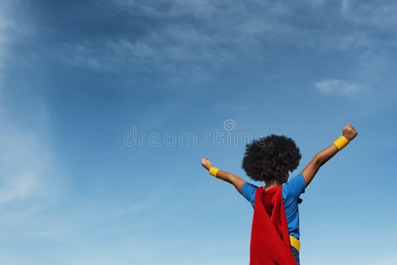 Concepto del superhéroe de Little Boy imagen de archivo libre de regalías
