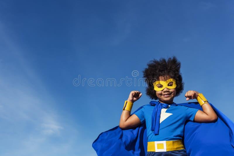 Concepto del superhéroe de Little Boy fotos de archivo