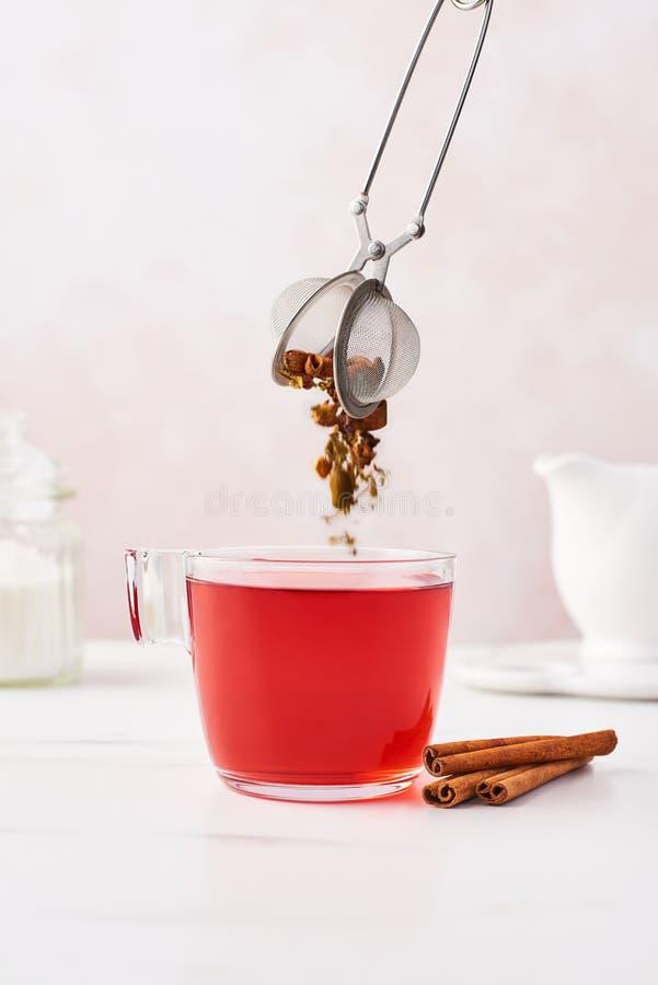 Concepto del té de la fruta imagen de archivo libre de regalías