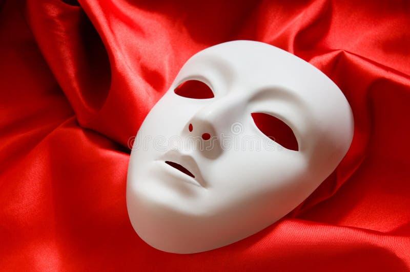 Concepto del teatro - máscaras blancas fotos de archivo libres de regalías