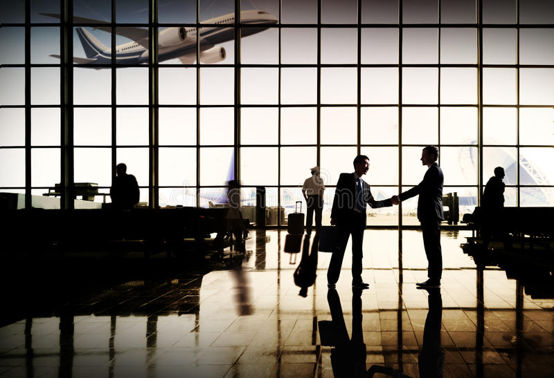 Concepto del terminal de aeropuerto del viaje de negocios del aeropuerto internacional fotografía de archivo libre de regalías